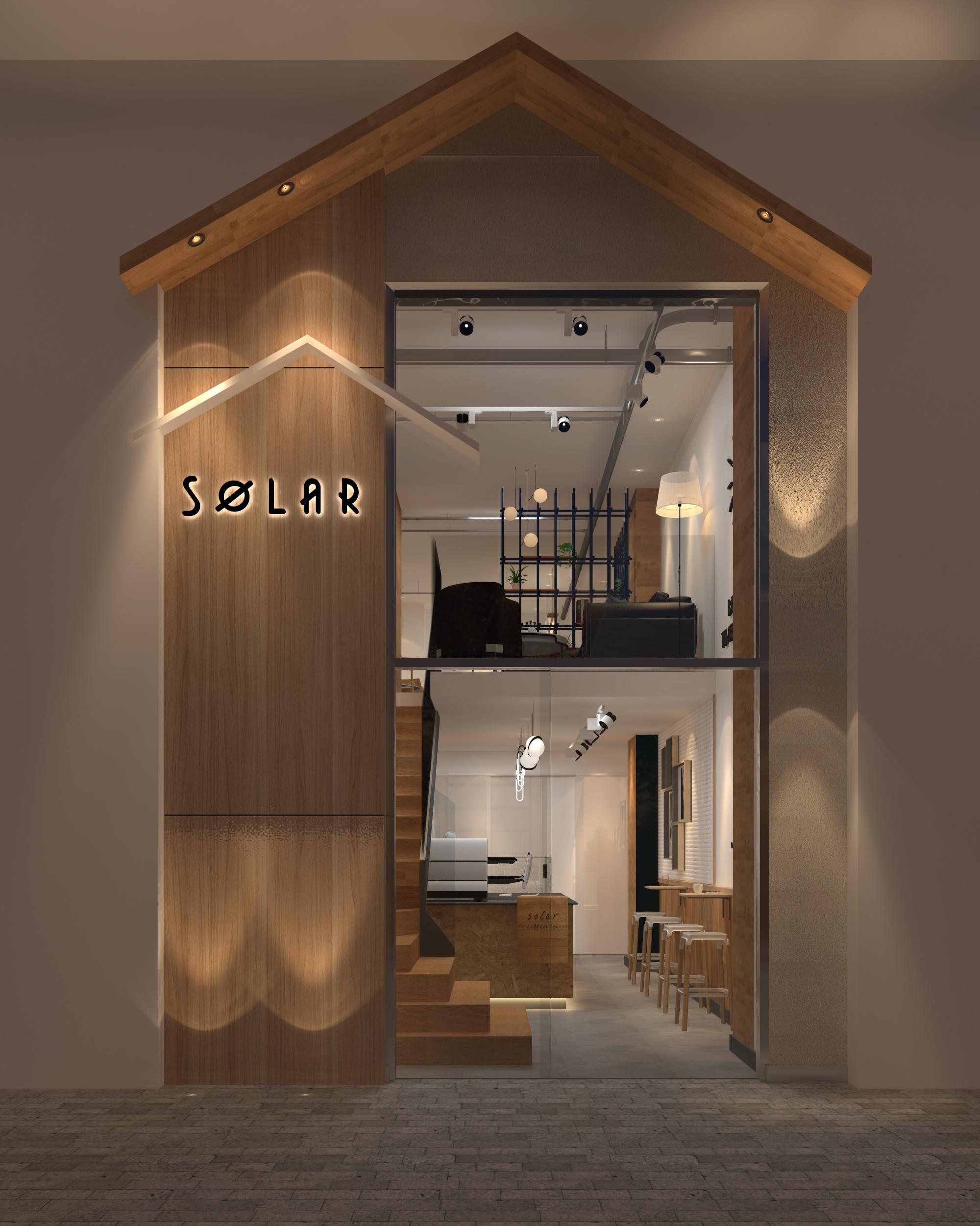 咖啡店门头设计效果图