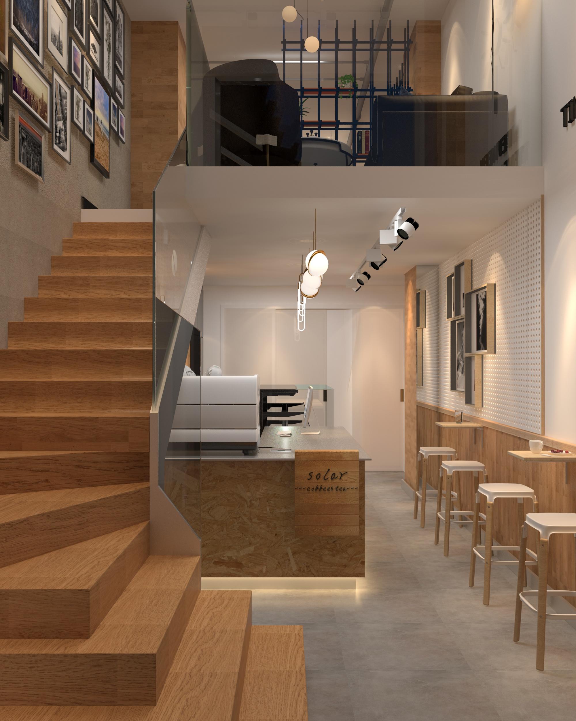 咖啡店吧台设计效果图