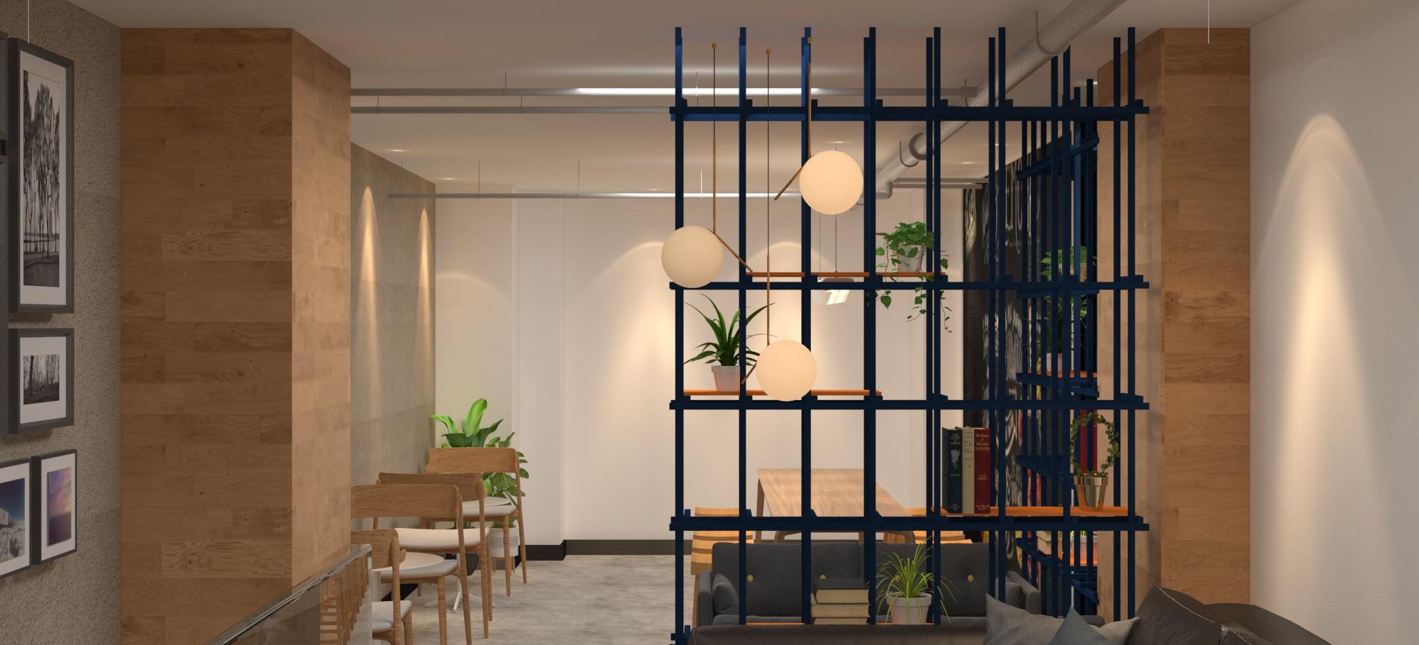 咖啡店沙发区设计图