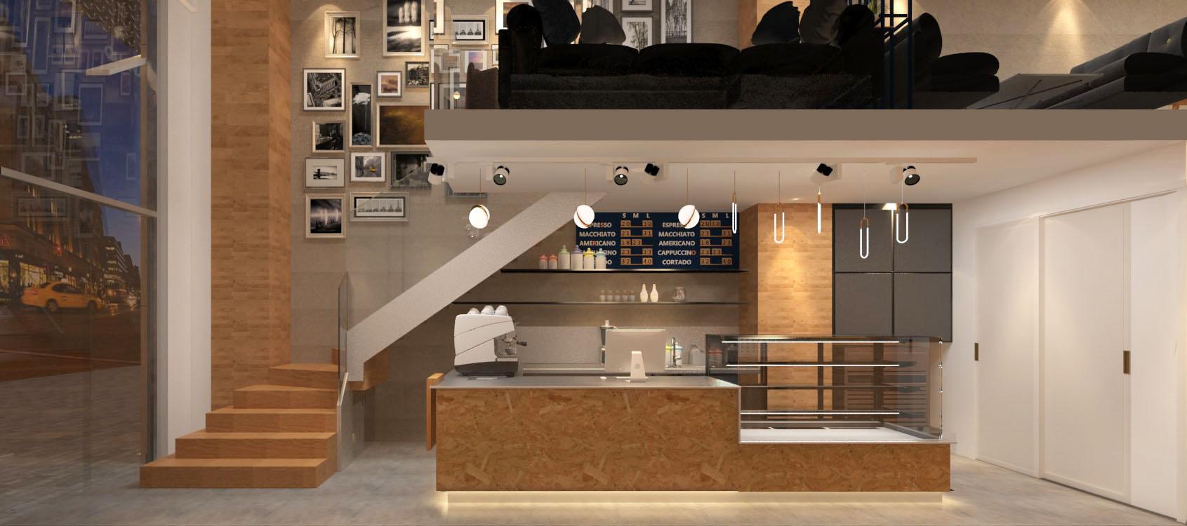 solar咖啡店设计效果图3